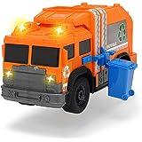 Dickie Toys Recycle Truck, Müllauto, Müllabfuhrwagen, Müllfahrzeug, Müllwagen, Spielzeugauto, Abfallbehälter fährt auf und ab, Licht & Sound, inkl. Batterien, 30 cm groß, ab 3 Jahren