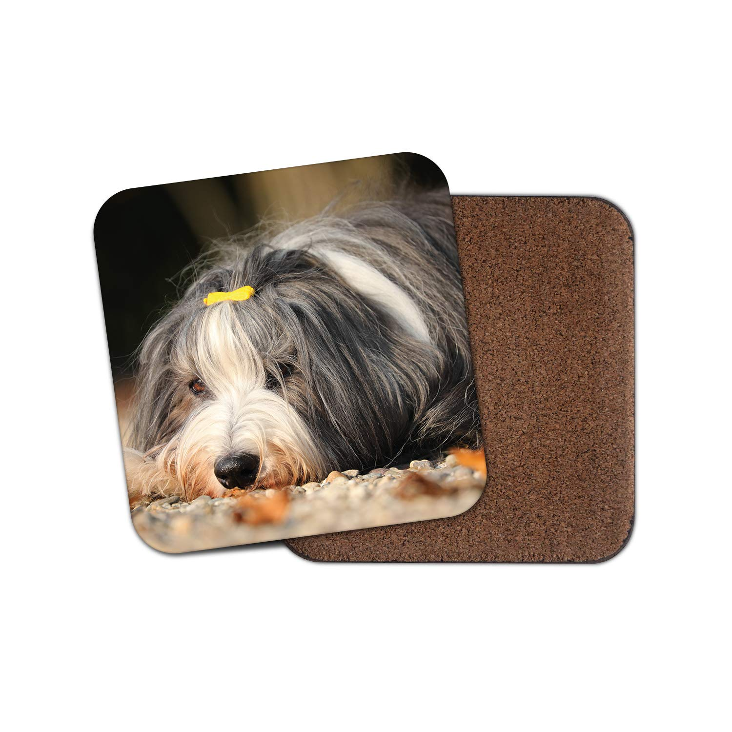 1 x Bearded Collie Puppy Coaster – Dog Cute Pretty Pets Animals Puppies Gift #15815