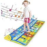 RenFox Tappeto Musicale Bambini Tappetino da Ballo per Pianoforte Tappeto Tastiera Musicale Piano Mat Tappetino da Gioco Musi