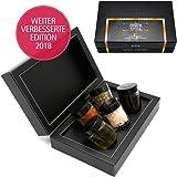 Hallingers 5 Gewürze, Essige & Öle als Grill-Geschenk-Set (130g) - Grill & Chill (MiniDeluxe-Box) - zu Sommer Grillen Für Sie Für Ihn