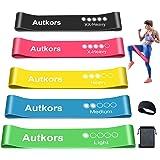 Autkors Weerstandsbanden [Set van 5] Huidvriendelijke fitness-trainingsbanden met sporthoofdband en draagtas, 5 verschillende