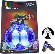 Lify Glass Unisex Blue Fibre Waterproof Luminous LED Shoelaces