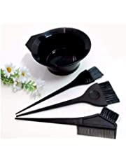 Ekan Professional Use Hair Coloring Dyeing Kit Brush with Bowl, Black (Pack 1)