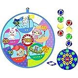 Lbsel Cadeau voor kinderen, sportspeelgoed dartbord set 8 kleverige ballen met 2 haak, veilig & klassiek speelgoed cadeau voo