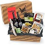 Präsentkorb Spanische Delikatessen - TAPAS | gefüllter Geschenkkorb mit Craft-Beer & Spezialitäten aus Spanien | köstliches Geschenk für Männer & Frauen