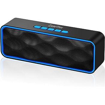 ZoeeTree S1 ZJB01000 - Altoparlante Bluetooth, Speaker Portatile, Vivavoce Integrato con Doppio Driver Cassa, Audio HD e Bassi Potenziati, Chiamata Senza Mani, Slot per Scheda TF, Blu e Nero