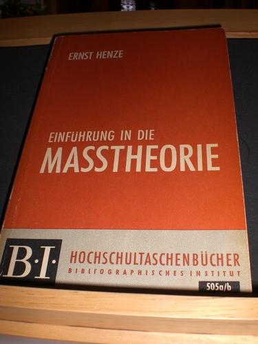 B.I. Hochschultaschenbücher, Bd. 505a/b: Einführung in die Masstheorie
