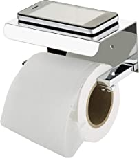 STEELERA HANDRAIL Stainless Steel Toilet Paper Holder with Mobile Stand (Silver)