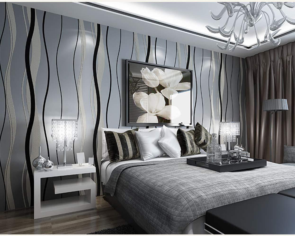 Carta Da Parati A Righe Azzurre : Parete a righe camera da letto cool camera da letto la parete