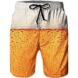 RAISEVERN Hombre Pantalones Cortos Hawaianos de Surf con Estampado Divertido de Verano para con Forro de Malla, Pantalones Ca