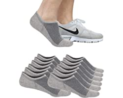 6/12 Pairs Mens Ankle Athletic Socks, Low Cut Breathable Running Socks,Comfort Sports Trainer Socks, Cotton Casual Non-Slip N
