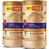 Saffola FITTIFY Gourmet Hi-Protein Slim Meal Shake - Cookies & Cream, 420 gm (Buy 1 Get 1 Free)