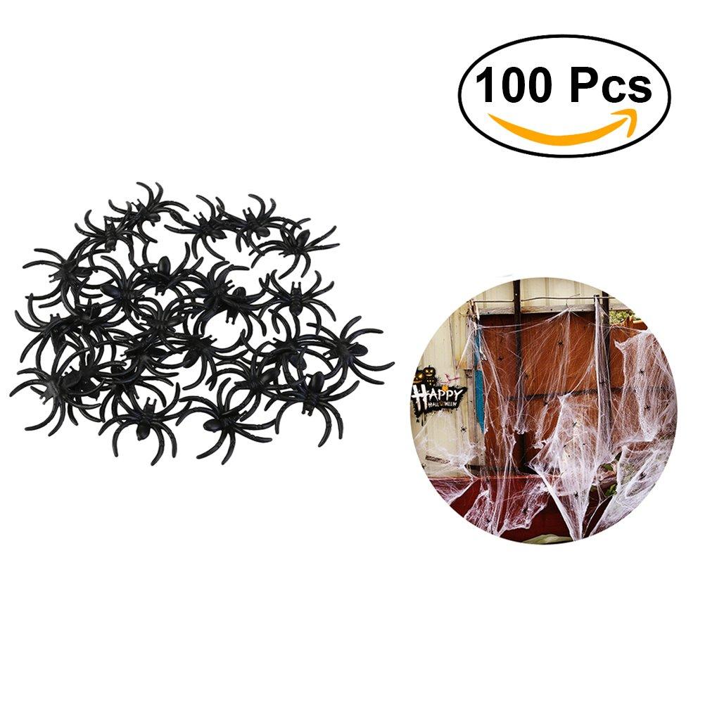 OULII Spider reale di ragno di plastica del ragno di Halloween dei ragni di fantasmi Jokes Props per