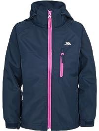 eb5cb179 Trespass Girls Waterproof Raincloud II Hooded Rain Jacket Coat
