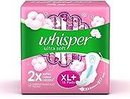 Whisper Ultra Soft Sanitary Pads XL Plus 15 Units