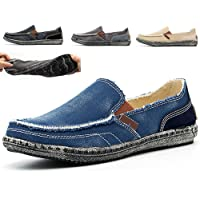 Espadrilles Classiques à Enfiler Homme Chaussures en Toile Mocassins Bateau de Sport Espadrilles Chaussures à Fond Mou…