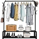 رفوف حمل وتنظيم الملابس، معدنية اسود