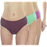 VSTAR Honey Cotton Floral Printed Inner Elastic Panty with More Coverage Assorted - Pack of 3