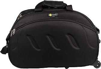 VIDHI Black Duffle Bag with Wheel (51 cms)