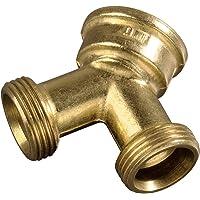 """Xavax Raccord Y pour tuyau d' arrivée d'eau (à 2 voies pour tuyaux d'admission, 26,9 mm (3/4 """") en laiton, collecteur en…"""