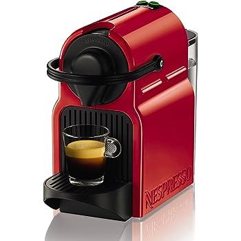 Nespresso Inissia Krups XN100510, Cafetera de Cápsulas, 19 bares, Compacta, Apagado Automático, Rojo