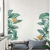 decalmile Pegatinas de Pared Hoja de Banana Vinilos Decorativos Plantas Tropical Verde Adhesivos Pared Salón Dormitorio Venta