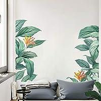 decalmile Stickers Muraux Tropical Feuilles de Banane Autocollant Mural Plante Verts Décoration Murale Chambre Salon…