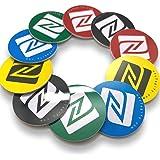 10 NFC Tags | NXP Chip NTAG215 | 504 byte di memoria | Adesivi rotondi in colori misti | PVC Rigido e Adesivo 3M forte | elev