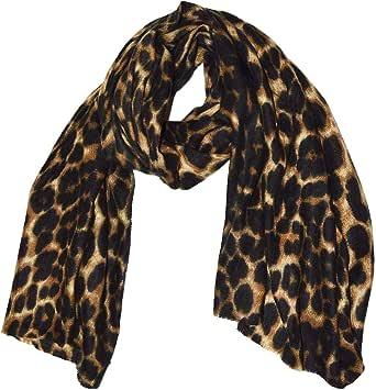 GM Accessories - Sciarpa con stampa leopardo extra large e super morbida, con stampa leopardo, da donna, taglia grande, con stampa animale