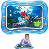 Inflatable Tummy Time Water Mat, Baby Water Play Mat Sensory Toy Infants Toddlers Fun Activity Center Ocean Theme Pad…