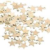 UFLF 100 Pz Ciondoli Stelline Pendenti per Gioielli Fai da Te Mini Ciondoli a Stella per Collane Bracciali Creazione di Gioie