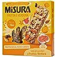 Misura Snack Frutta e Verdura Natura Ricca | Barrette Frutta Secca, Fichi e Carote | Confezione da 81 gr