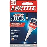 Loctite Super Attak Precision, Colla liquida trasparente con beccuccio extra lungo, Colla universale istantanea multimaterial