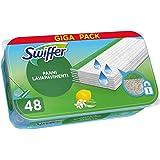 Swiffer Lavapavimenti Wet, 48 Panni Umidi, Limone, Maxi Formato, Pulizia Igienica Profonda, Rimuove Sporco e Batteri, per Tut
