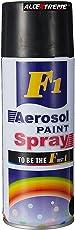 AllExtreme F1 Aerosol Spray Paint for Automobiles, Automotive, Vinyl, Plastic, Rubber, Fiberglass, Leather & More ? Non-Toxic, Dust and Dirt Repellant - Shiny Black