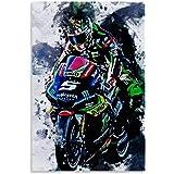 Johann Zarco Champion du Monde Moto Placa de Calle