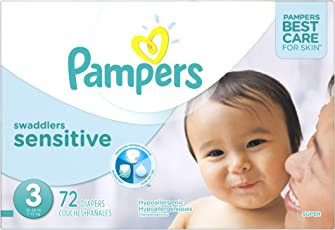 Pampers Swaddlers Sensitive Diapers Size 3 Super Pack 72 Count, 72 Count
