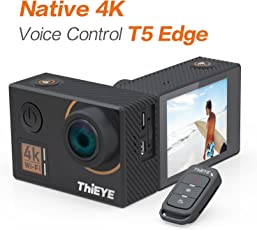"ThiEYE T5 Edge Action Camera,Ture 4k/30fps,14MP,2.0"" IPS-Bildschirm,EIS WiFi 60M Wasserdichte Sport Kamera mit Fernbedienung"