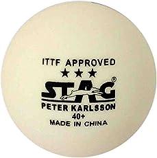 Stag Three Star Plastic Table Tennis Ball (White)