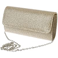 Dabixx donna sera frizione borsa a tracolla da sposa o festa di nozze busta borsetta, Champagne, 20×11×5cm/7.87×4.33×1…