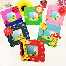 ARIRA Wooden Cute Animal Design Photo Frame for Birthday Return Gift (Mix Design Set of 6)