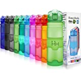HoneyHolly Botella de Agua Deporte 400ml/500ml/700ml/1l, sin bpa tritan plastico, Reutilizables a Prueba de Fugas Botellas Po