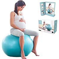 BABYGO Birthing Ball For Pregnancy Maternity Labour & Yoga + Our 100 Page Pregnancy Book, Exercise, Birth & Recovery…