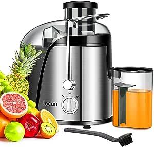 Entsafter, elektrisch Zentrifugaler Entsafter für Obst und Gemüse, 2 Geschwindigkeitsstufen und Überhitzungsschutz, Anti Shake Design, Saftbehälter