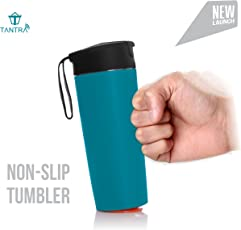 TANTRA Magic Bottle Tumbler, Suction Cup, Non-Spill Mug, Mighty Mug, Office Bottle, Gym Sports Sipper Bottle (Blue)