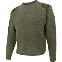 Hoggs of Fife Melrose Hunting Pullover Marled Green