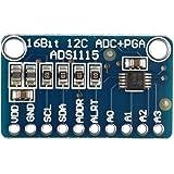 Haljia 16Bits I2C Module ADS1115ADC 4canaux avec amplificateur de gain programmable Analogique Digital convertisseur de carte de développement