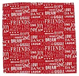 "Ponnaval Tex Cotton Place Mat - 14"" x 14"", Red"
