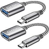 Gritin USB C naar USB 3.0 adapter, [2 stuks] OTG USB Type C adapterkabel compatibel met MacBook Pro, iPad Pro 2020, Galaxy S2