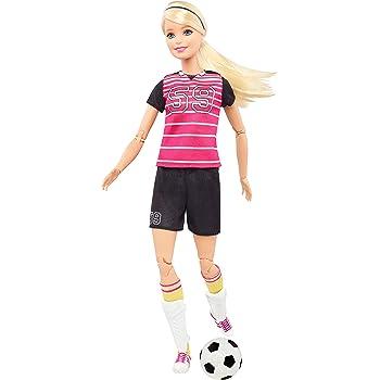 en Move Made Barbie to de articulée joueuse poupée foot blonde wwzqAnrx